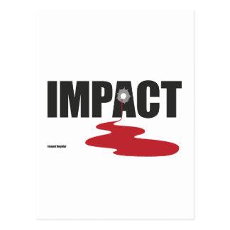 Impact - Blood impact font! Postcard