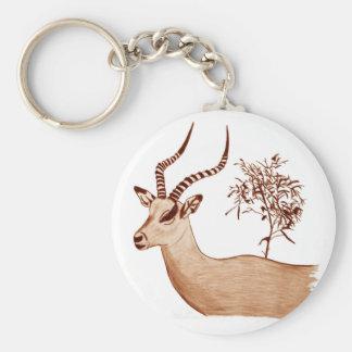 Impala Antelope Animal Wildlife Drawing Sketch Key Ring