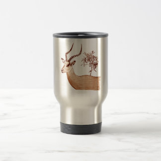 Impala Antelope Animal Wildlife Drawing Sketch Travel Mug
