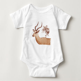 Impala Antelope Drawing Sketch Baby Bodysuit
