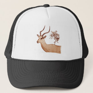 Impala Antelope Drawing Sketch Trucker Hat