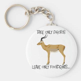 Impala wildlife key ring