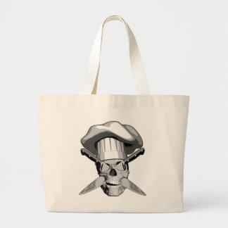 Impaled Chef Skull v3 Tote Bags
