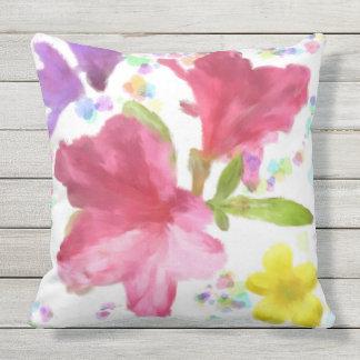 Impasto Flowers Outdoor Cushion