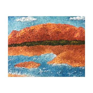 Impasto Mountain Painting Canvas Print
