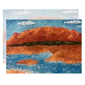 Impasto Mountain Painting Card