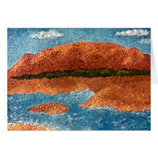 Impasto Mountain & River Painting Card