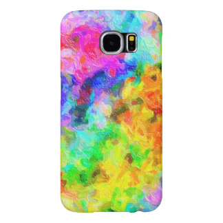 Impasto Painted Rainbow Colors Samsung Galaxy S6 Cases
