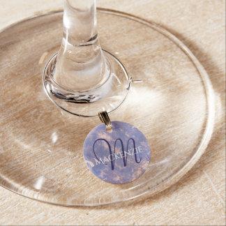 Impatient Bar | Name Lilac Lavender Purple Gold Wine Charm