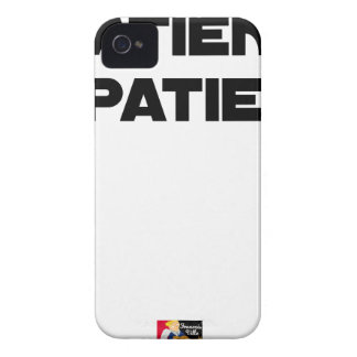 IMPATIENT PATIENT - Word games - François City Case-Mate iPhone 4 Case