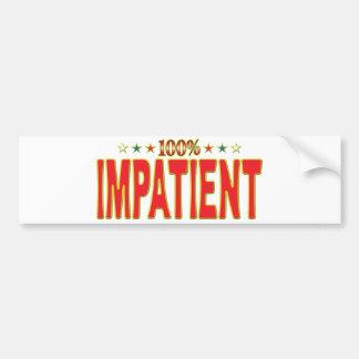 Impatient Star Tag Bumper Stickers
