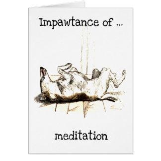 Impawtance of meditation greeting card