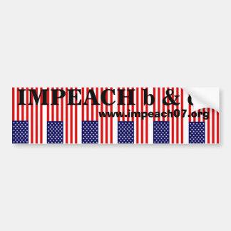 Impeach b&c car bumper sticker