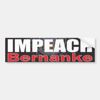 Impeach Bernanke Bumper Stickers