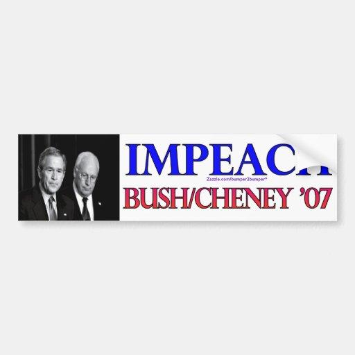 Impeach Bush/Cheney Bumper Sticker