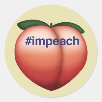 impeach classic round sticker