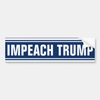 Impeach Donald Trump 2016 Anti President Bumper Sticker