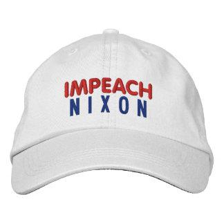 IMPEACH NIXON BASIC ADJUSTABLE CAP - WHITE