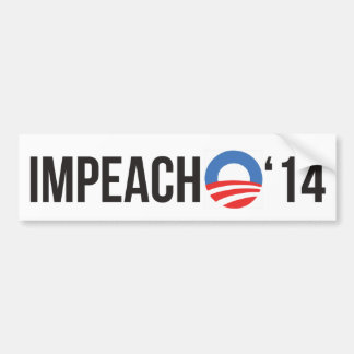 Impeach Obama '14 Bumper Sticker