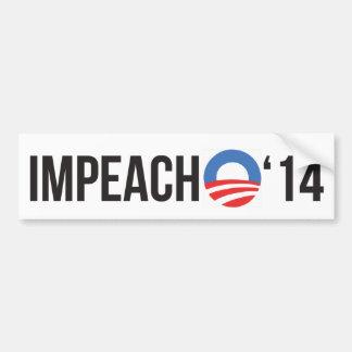 Impeach Obama '14 Bumper Stickers