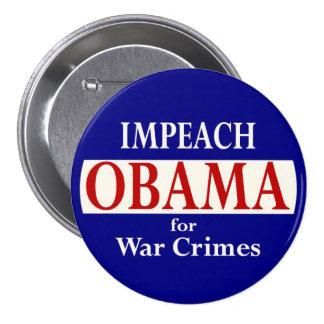 Impeach Obama 7.5 Cm Round Badge
