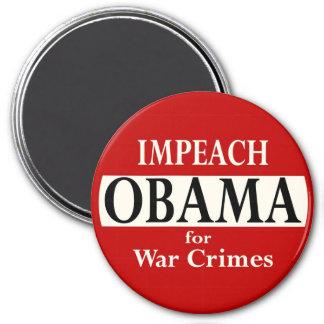 Impeach Obama for War Crimes 7.5 Cm Round Magnet