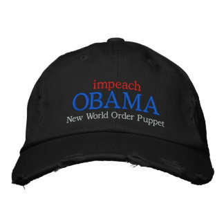 impeach OBAMA New World Order Puppet Embroidered Baseball Caps