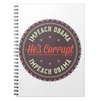 Impeach Obama Spiral Notebook
