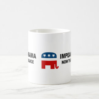 Impeach Obama - now that's change Classic White Coffee Mug