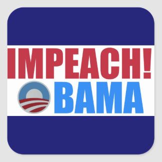 impeach obama square sticker