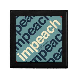 Impeach President Barack Obama Jewelry Box