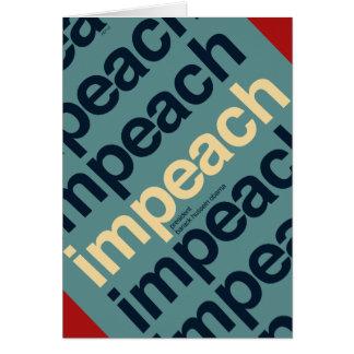 Impeach President Barack Obama Greeting Card