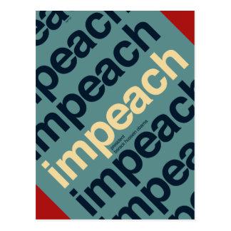 Impeach President Barack Obama Postcard