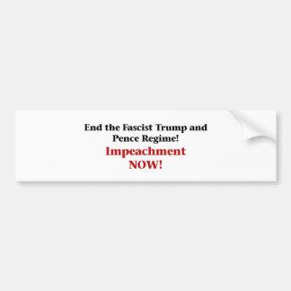 Impeach Trump and Pence Bumper Sticker
