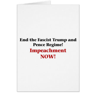 Impeach Trump and Pence Card