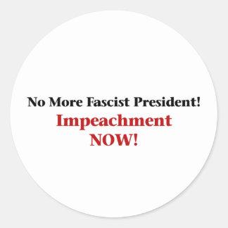 Impeach Trump Now Classic Round Sticker