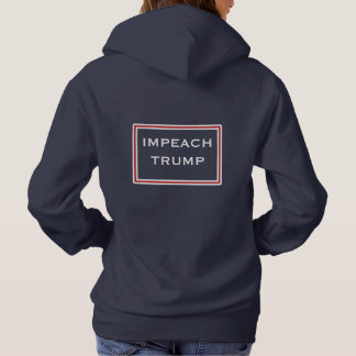 Impeach Trump Red and White Hoodie