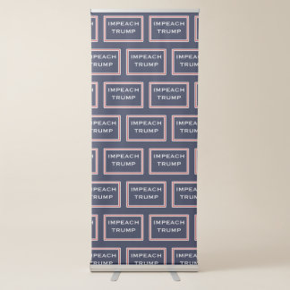 Impeach Trump Red and White Resist Retractable Banner