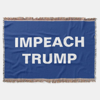 Impeach Trump Resistance Throw Blanket