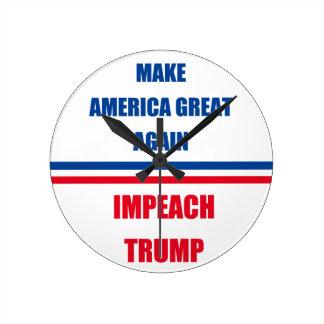 Impeach Trump Round Clock