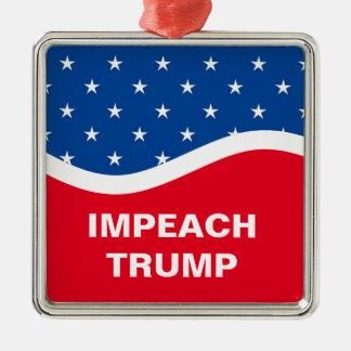 Impeach Trump Silver-Colored Square Decoration