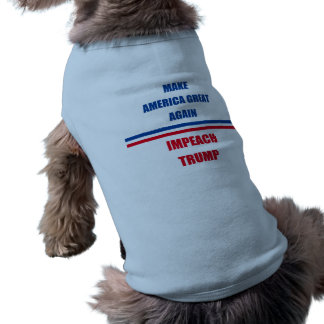 Impeach Trump Sleeveless Dog Shirt