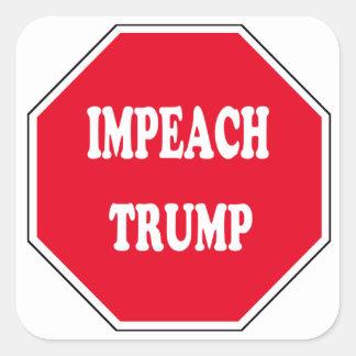 Impeach Trump Square Sticker