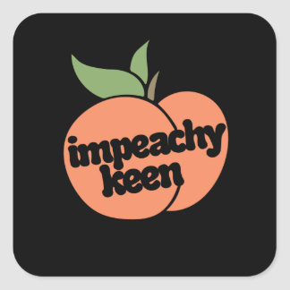 impeachy keen square sticker