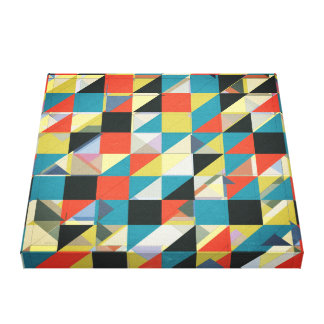 Imperfect Grid of Colors Canvas Prints