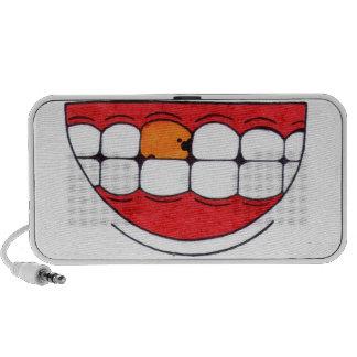 Imperfect smile notebook speaker