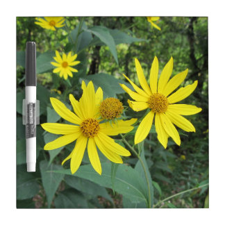 Imperfect Yellow Wildflowers Dry Erase White Board