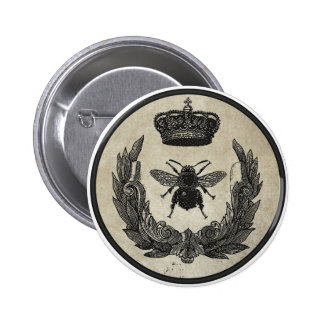 Imperial Bee 6 Cm Round Badge
