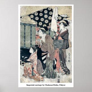 Imperial carriage by Chokosai Eisho, Ukiyoe Posters