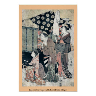 Imperial carriage by Chokosai Eisho, Ukiyoe Poster